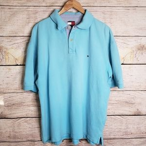 Tommy Hilfiger men's light blue classic polo